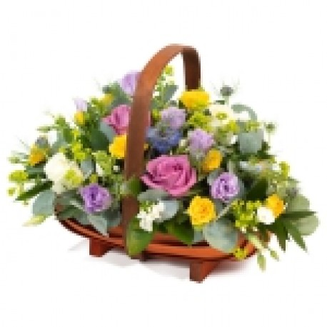 All aboard, basket arrangement