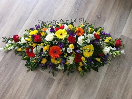 colourful casket