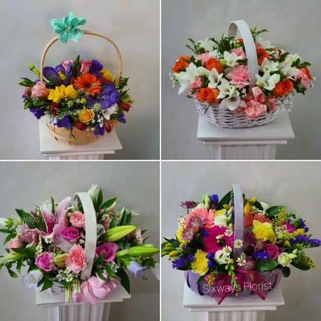All round basket arrangements