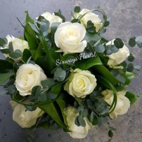Ivory rose posy