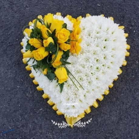 yellow heart two sizes