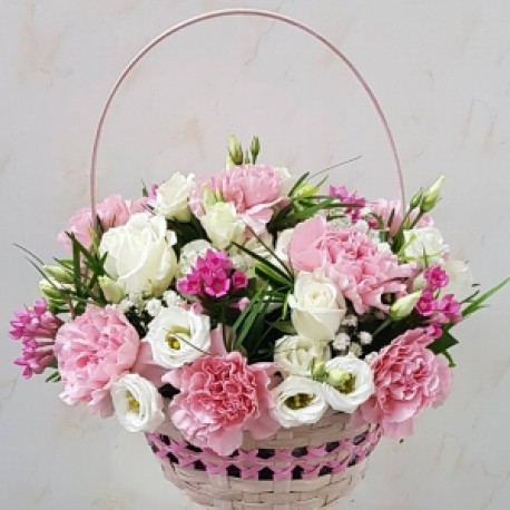 Pretty pink basket