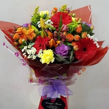 Colourful aqua bouquet