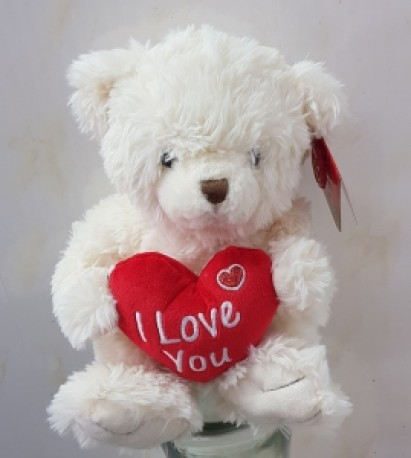 cream bear with heart..add on