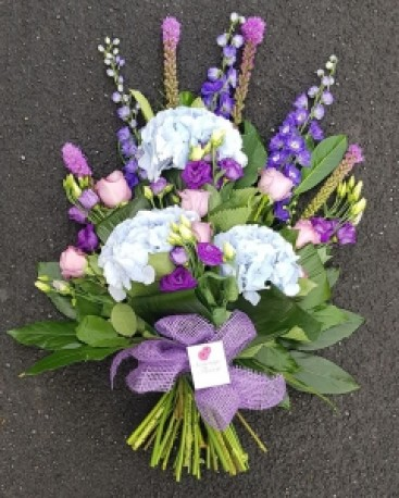 Lilac and blue tied sheaf