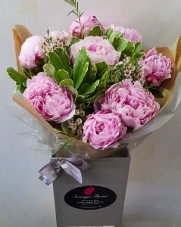 Peony aqua bouquet
