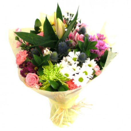mixed tied bouquet