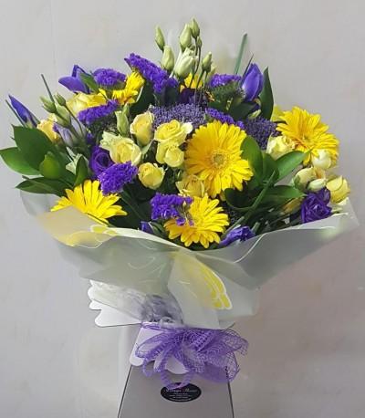 Yellow and purple aqua