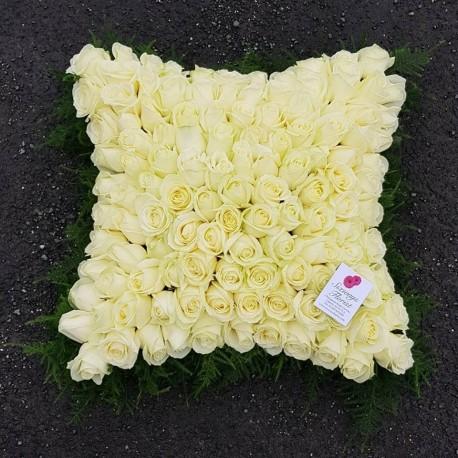 Large rose based cushion