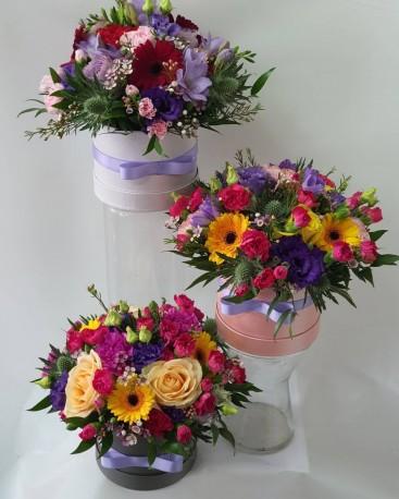 Round hatbox arrangements