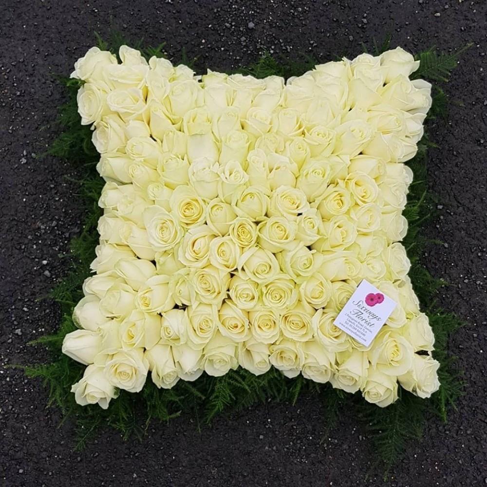 large rose based cushion six ways florist. Black Bedroom Furniture Sets. Home Design Ideas