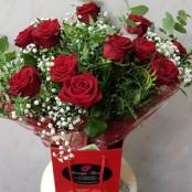 12 roses, gyp, foliage