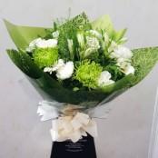 Olive, aqua bouquet