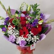 Lauren, larger aqua bouquet