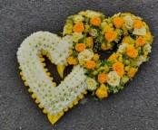 yellow double hearts
