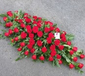 4ft red rose casket spray
