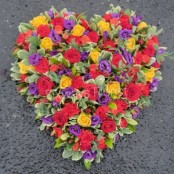 Colourful mixed heart