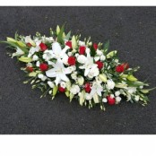 white with red casket sp