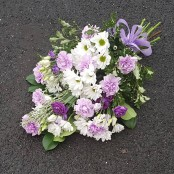 Tied sheaf lilac, white and purple