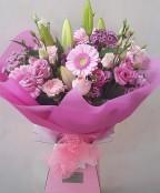 Pink aqua bouquet.